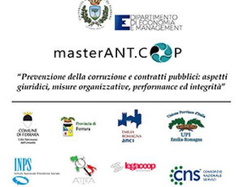 Dal CNS 2 borse di studio per il master in prevenzione della corruzione e contratti pubblici