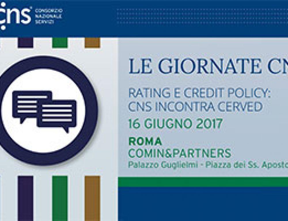 GIORNATE CNS: nel secondo appuntamento si parla di rating e credit policy