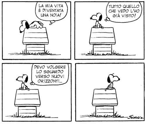 vignetta Snoopy - sguardi